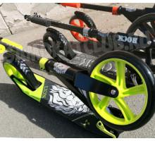 Vinca Sport Lion черный самокат с большими колесами