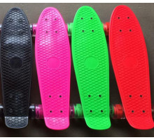 Мини-круизеры цветные со светящимися колесами