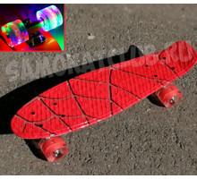 """Скейт 22"""" Spider Man со светящимися колесами"""