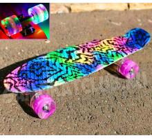 """Скейт 22"""" Superstar со светящимися колесами"""