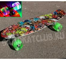 "Скейт 22"" Monsters со светящимися колесами"