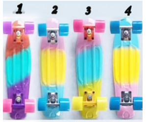 Мини-круизеры 22 дюйма со светящимися колесами (3-х цветные)