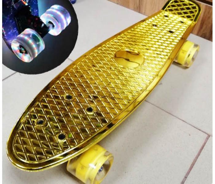 Мини-круизер Metallic Gold колеса светятся 22 дюйма (золотой)
