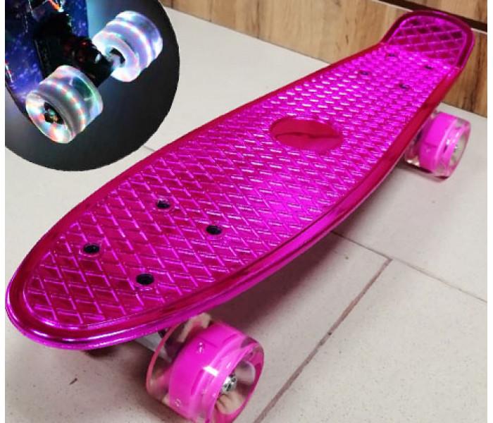 Мини-круизер Metallic Pink колеса светятся 22 дюйма (розовый)