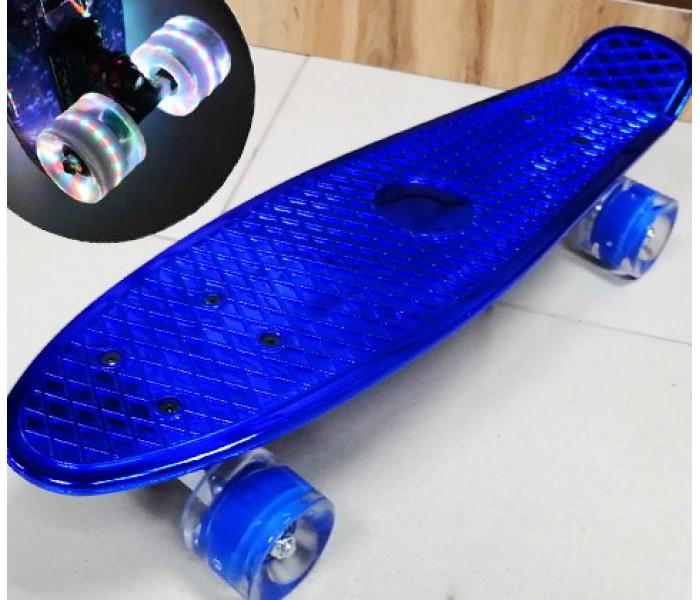 Мини-круизер Metallic Blue колеса светятся 22 дюйма (синий)