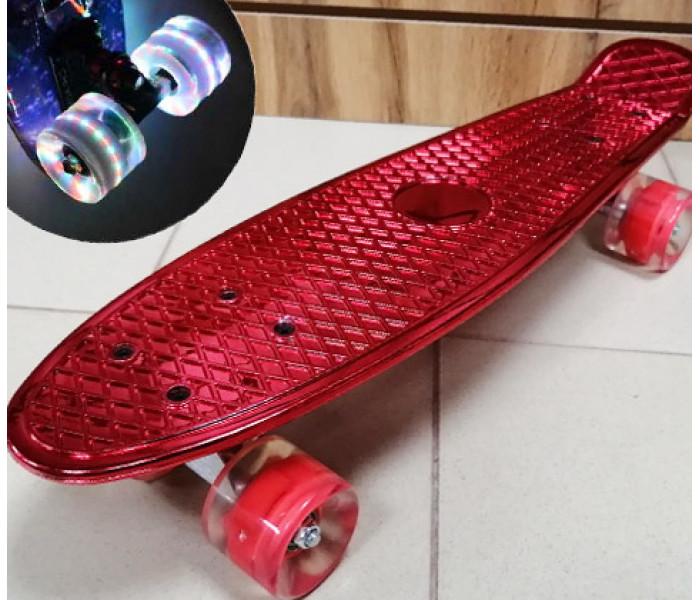Мини-круизер Metallic Red колеса светятся 22 дюйма (синий)