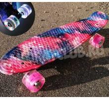 """Скейт 22"""" Fantasy со светящимися колесами"""