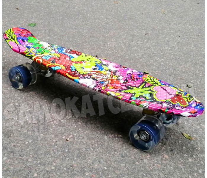 Мини круизер Graffiti со светящимися колесами 22 дюйма