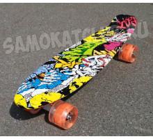 "Скейт 22"" Сlown колеса светятся"