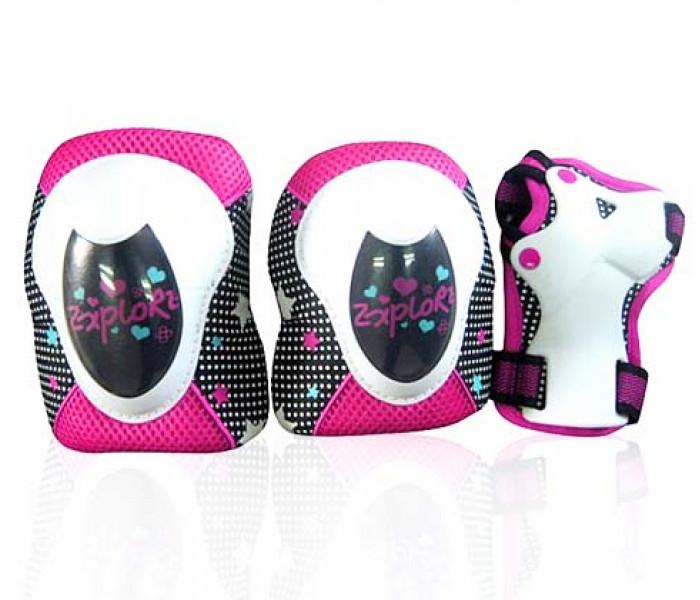 Защита для двочек Explore CINDY (S/M) бело/розовая