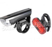 Набор фонарей для самоката / велосипеда JY-7024,  6068T