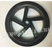 Колесо для самоката 200 мм черное без подшипников