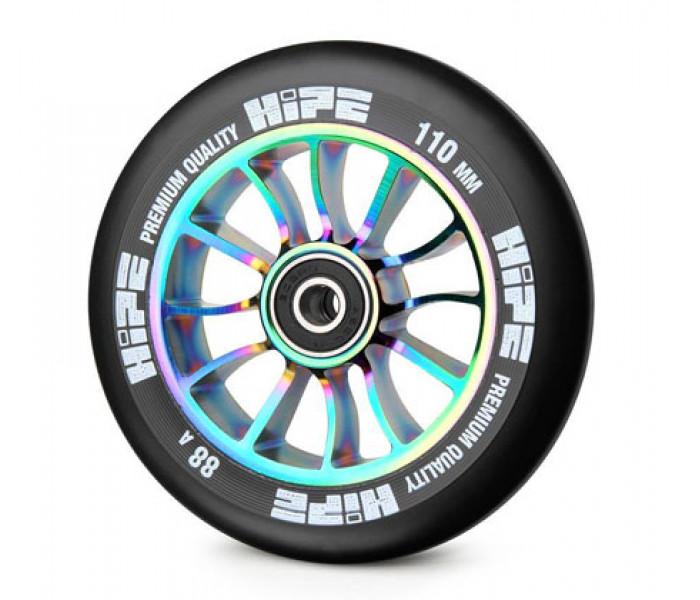 Колесо для трюкового самоката HIPE H01 110мм neo chrome