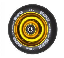 Колесо HIPE Solid 110 мм золотой/черный для трюкового самоката с подшипником