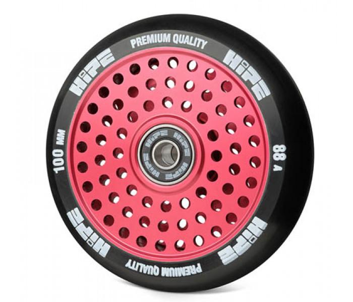 Колесо HIPE H20 Hollow 100мм (красное) для трюкового самоката (металл)