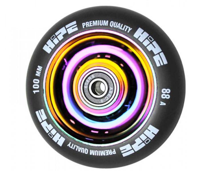Колесо HIPE Solid 100мм Neo-Chrome для трюкового самоката (металл)
