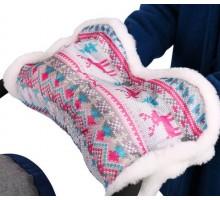 Муфта утепленная NIKA розовая для санок, колясок
