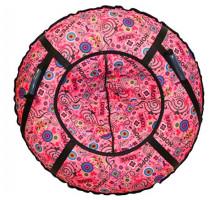 Ватрушка тюбинг 80см розовая с сердечками