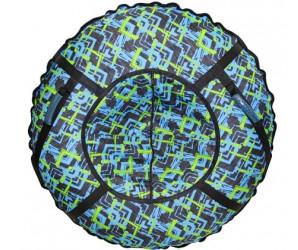 Большая ватрушка тюбинг 110см Микс (голубая)