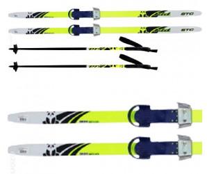"""Лыжи детские """"Комби"""" 120 см с палками и креплениями"""
