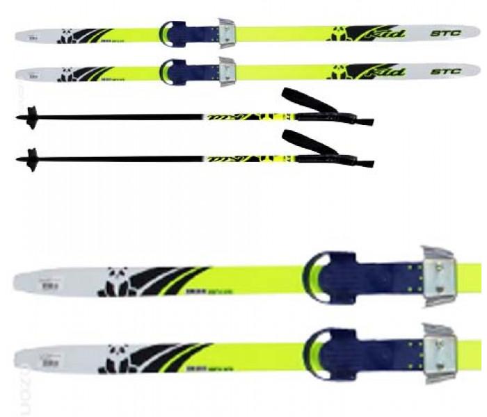 """Детские лыжи """"Комби"""" 130 см набор с палками и креплениями"""