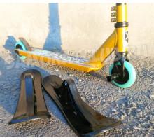Самокат Explore STERLING SUPER бронза (лыжи+колеса) + Пега