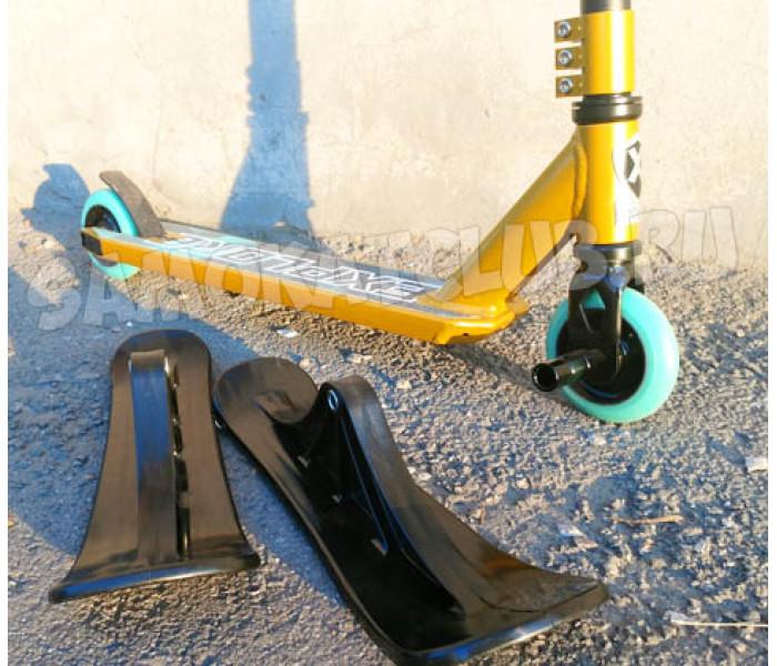 Трюковой самокат Explore STERLING SUPER бронза лыжи+колеса