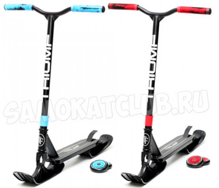 Трюковой самокат Triumf Active Snow 2в1 с лыжами и колесами