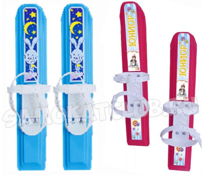 """Пластиковые мини-лыжи для детей """"Юниор"""" с креплениями"""