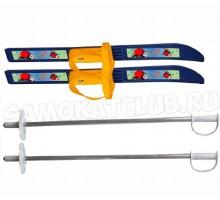 """Лыжи детские """"Олимпик-спорт"""" Снегири 66/75 см с палками и креплениями"""