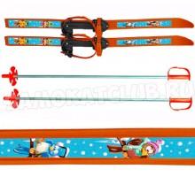 """Лыжи детские """"Вираж-спорт"""" 100/100 см с палками и креплениями"""