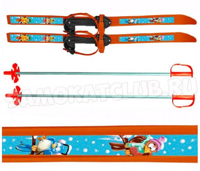 """Детские лыжи """"Вираж-спорт"""" 100/100 см с палками и креплениями"""