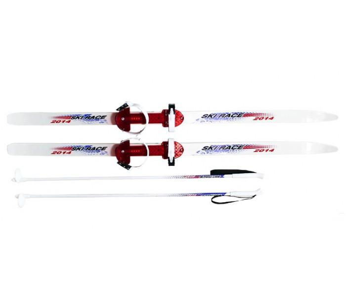 Подростковые лыжи 140/105 см с палками и креплениями