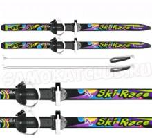 """Лыжи подростковые """"Ski Race""""120/95 см с палками и креплениями"""