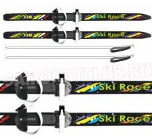 """Лыжи подростковые """" Ski Race""""130/100 см с палками и креплениями"""