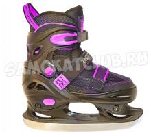 Детские раздвижные коньки TT CUBO GIRL черно-фиолетовые (31-34, 35-38)