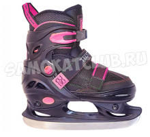 Детские раздвижные коньки TT CUBO GIRL черно-розовые (31-34, 35-38)