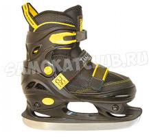 Детские раздвижные коньки TT CUBO BOY черно-желтые (31-34, 35-38, 39-42)