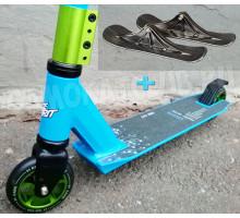 Race Spirit Master Series трюковой самокат - снегокат (лыжи+колеса)