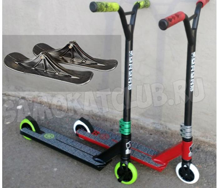 Трюковой самокат с лыжами и колесами Explore Leidart 500
