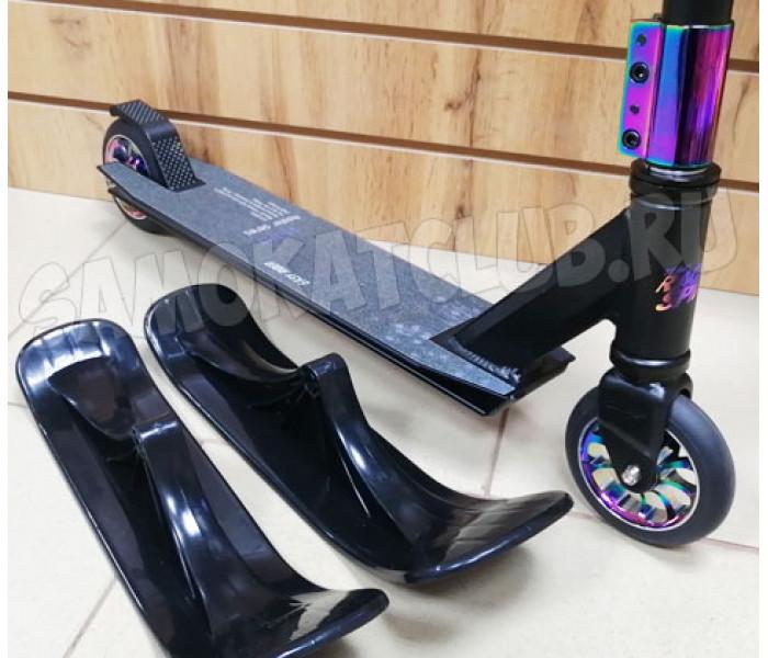 Трюковой самокат с лыжами и колесами GANG Neo Chrome 2020