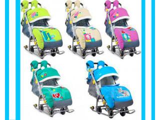 Санки-коляски с колесиками Nika Kids