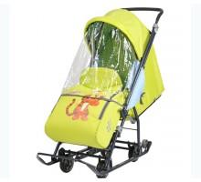 Cанки-коляска Nika Disney Baby 1 Тигруля (лимонный)
