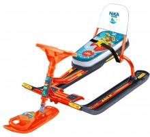 Детский cнегокат со спинкой Тимка спорт-4 Лисенок (оранжевый)
