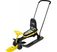 Снегокат с выдвижными колесами Ника Тимка Спорт 6 ТС6 (желтый)
