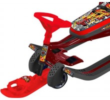 Снегокат с выдвижными колесами Ника Тимка Спорт 6 ТС6 (Граффити красный)