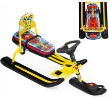 Детский cнегокат со спинкой Тимка спорт-4 F1 (Гоночная машина)
