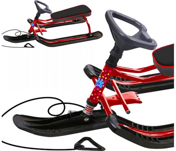 Снегокат детский Ника Тимка Спорт  для детей и подростков (красный)