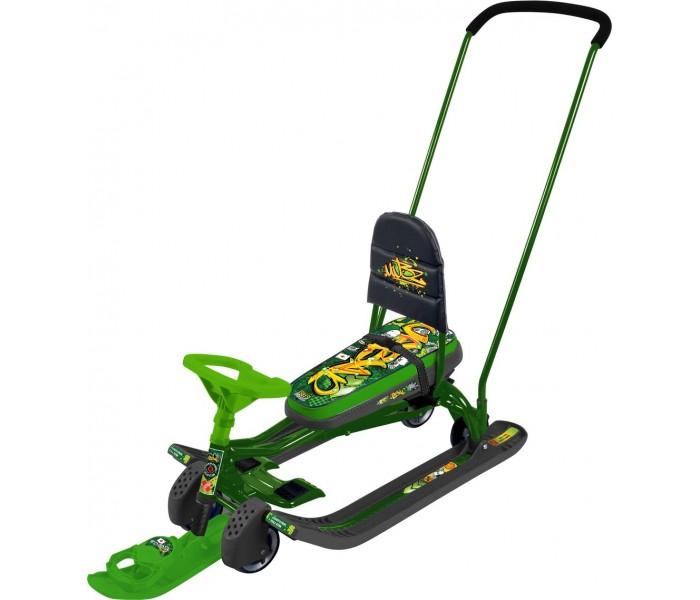 Снегокат детский Тимка Спорт 6 ТС6 (Граффити зеленый)